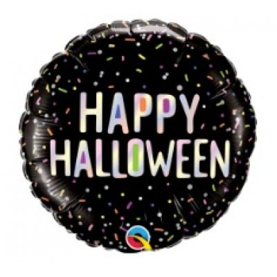 "Qualatex Foil 45cm (18"") Round Halloween Sprinkles"