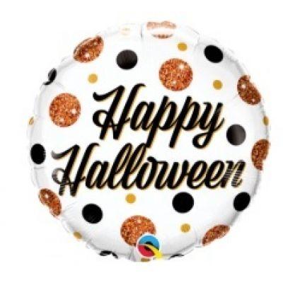 "Qualatex Foil 45cm (18"") Round Halloween Sparkly Dots"