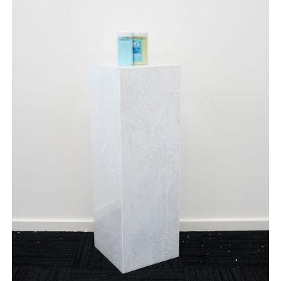 Acrylic Square Plinth (300 x 300 x 900mmH) Smokey White