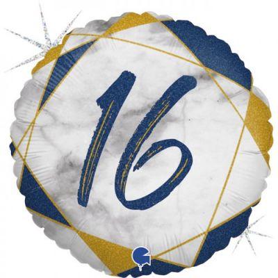 Grabo Foil Round 45cm #16 Blue Marble