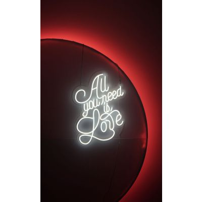 LED Sign All You Need is Love (130cm x 85cm) White
