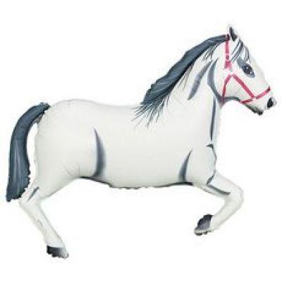 """FM Foil Super Shape 110cm (42"""") White Horse (Unpackaged)"""