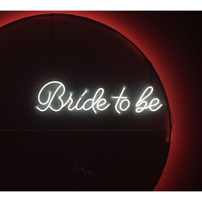 LED Sign Bride To Be (110cm x 30cm) White