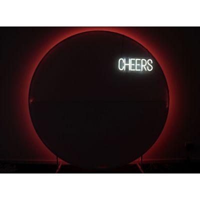 LED Sign Cheers (50cm x 19cm) White