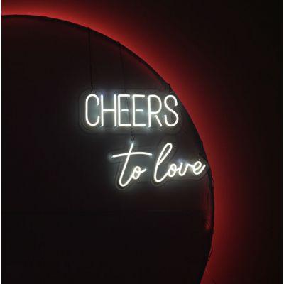 LED Sign To Love (50cm x 24cm) White