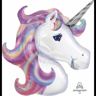 Anagram Foil Shape Pastel Unicorn Head (83cm x 73cm)