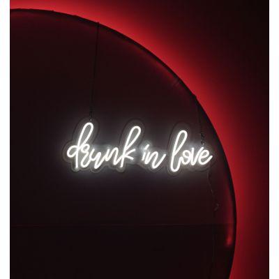 LED Sign Drunk In Love (70cm x 24cm) Pink