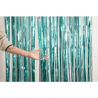 XL Foil Curtain (1m x 2.4m) Metallic Teal