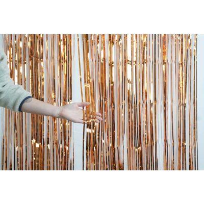 XL Foil Curtain (1m x 2.4m) Metallic Copper