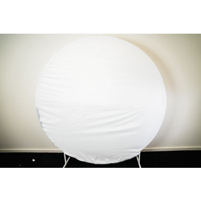 2m Circle Frame Fabric Cover White