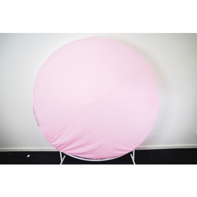 2m Circle Frame Fabric Cover Light Pink