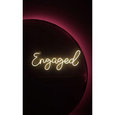LED Sign Engaged (84cm x 39cm) Warm White