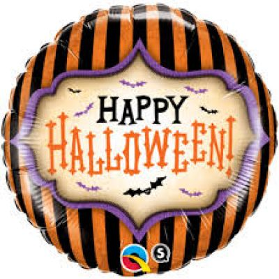 "Qualatex Foil 45cm (18"") Halloween Stripes"