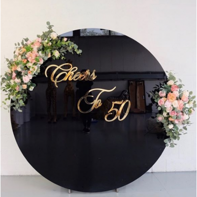 2m Acrylic Disc Backdrop (Black) (Frame not Included)