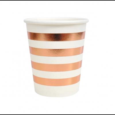 Illume P10 300ml Paper Cup Rose Gold Stripes