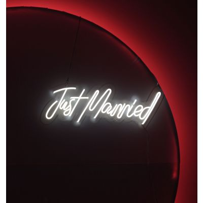 LED Sign Just Married (75cm x 27cm) White