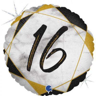 Grabo Foil Round 45cm #16 Black Marble