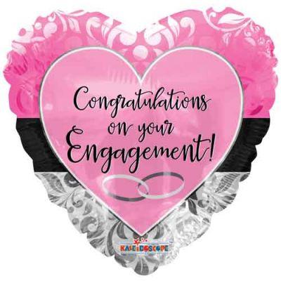 "Kaleidoscope Foil 18"" Engagement Pink (unpackaged )"