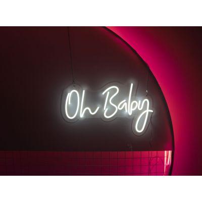 LED Sign Oh Baby (60cm x 35cm) White