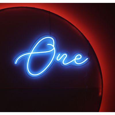 LED Sign One (89cm x 53cm) Light Blue