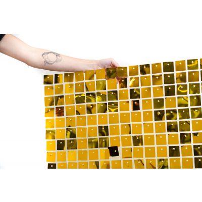 "Shimmer (30cm x 30cm) Sequin Wall Panel - Metallic ""True"" Gold"