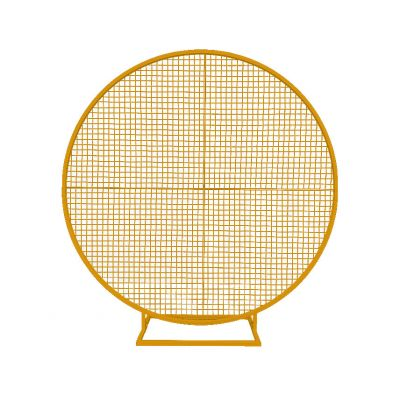 2m Balloon Frame With Mesh (4 Quarters with Improved Base) (Gold)