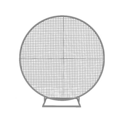 2m Balloon Frame With Mesh (4 Quarters with Improved Base) (Silver)